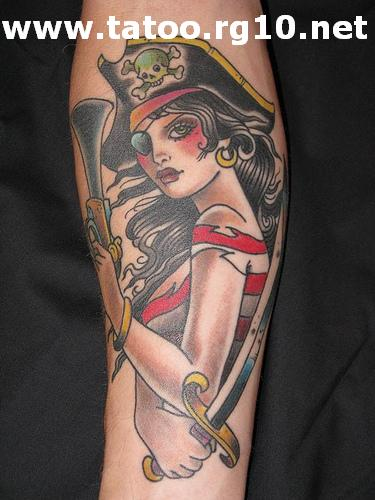 Pinup pirata desenhos para tatuagem for Old school female tattoos