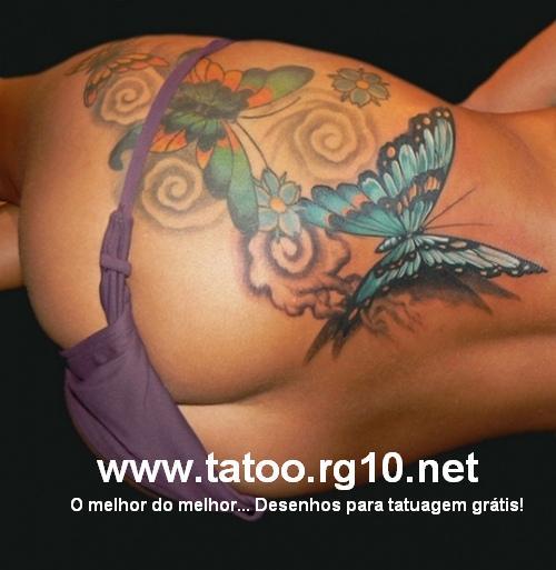 Tattoo Juniorjl Borboleta Estrelas