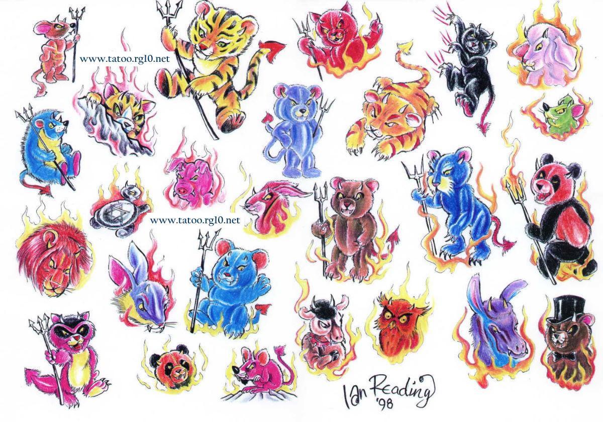 Desenhos Para Tatoo Ursinhos  Bichinhos  Le  O