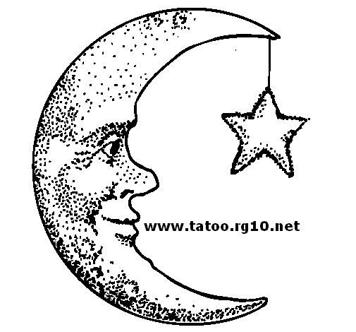 Lua e estrela. - Desenhos para tatuagem, tattoo masculina, tattoo ...