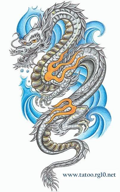 Dragão oriental - Desenho tattoo.